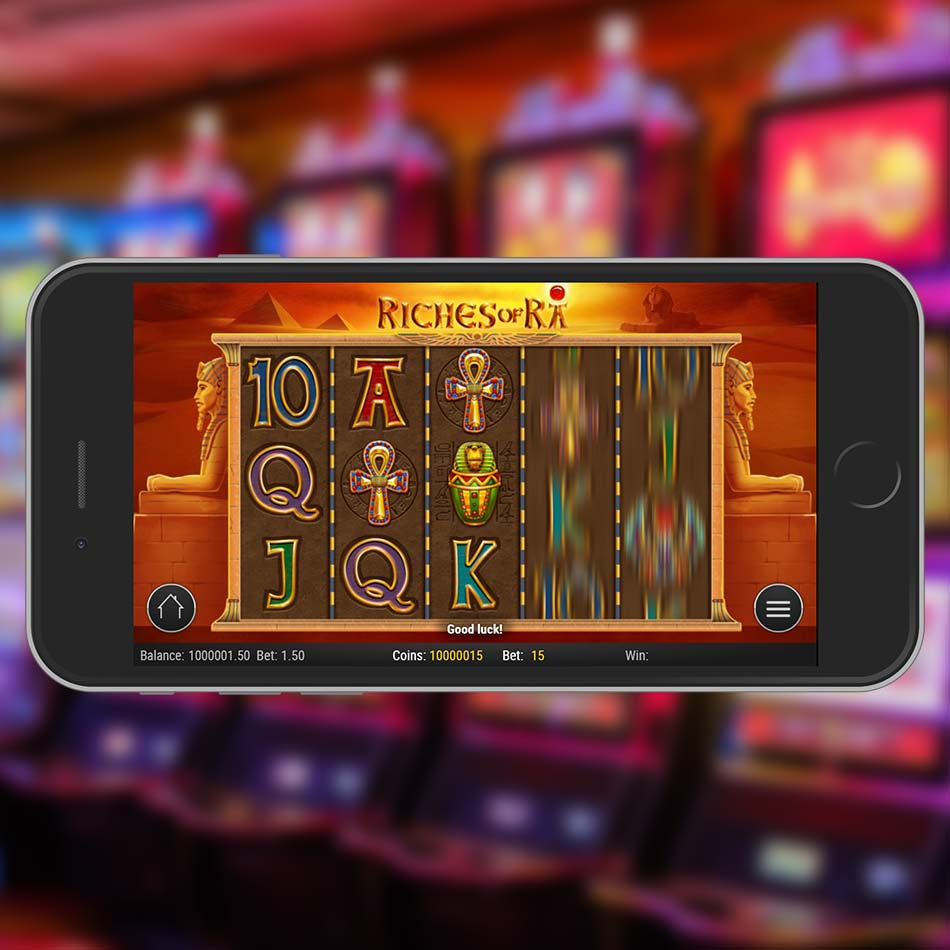 Riches Of Ra Slot Machine Spinning Phase