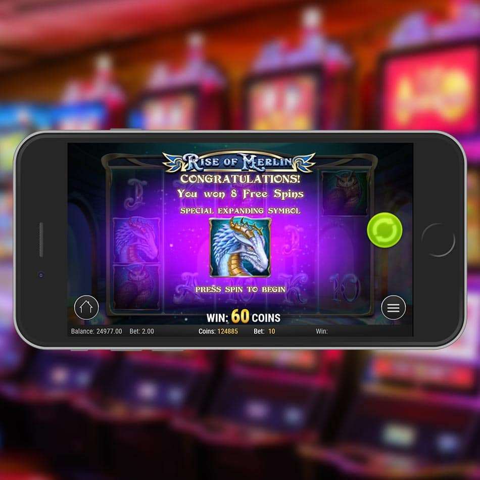 Rise of Merlin Slot Machine Free Spins Feature