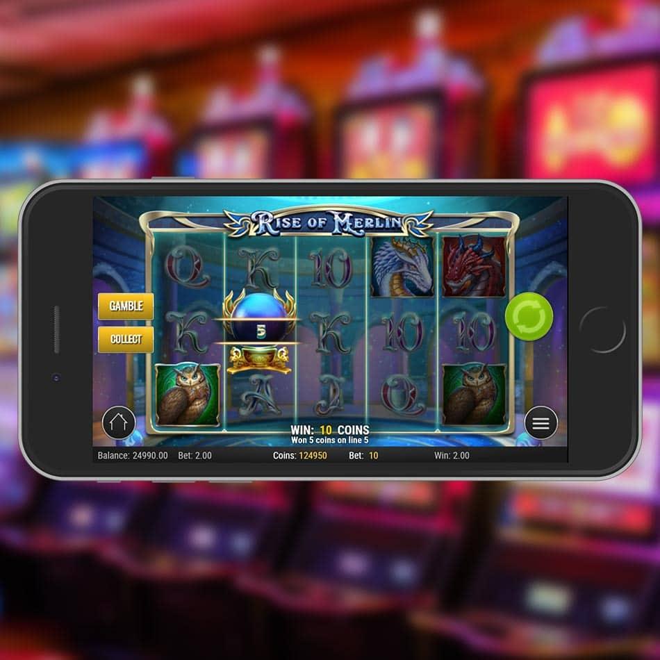 Rise of Merlin Slot Machine Gamble Feature