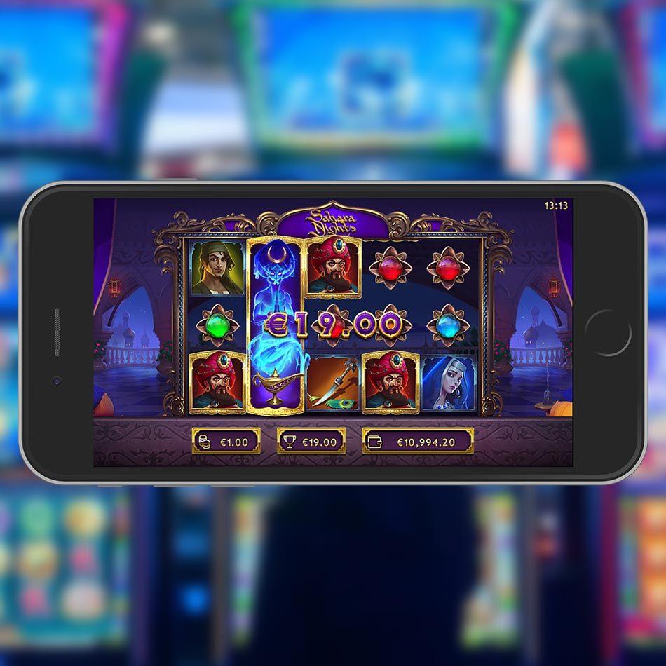 Sahara Nighst Slot Machine Expanding Wilds Feature