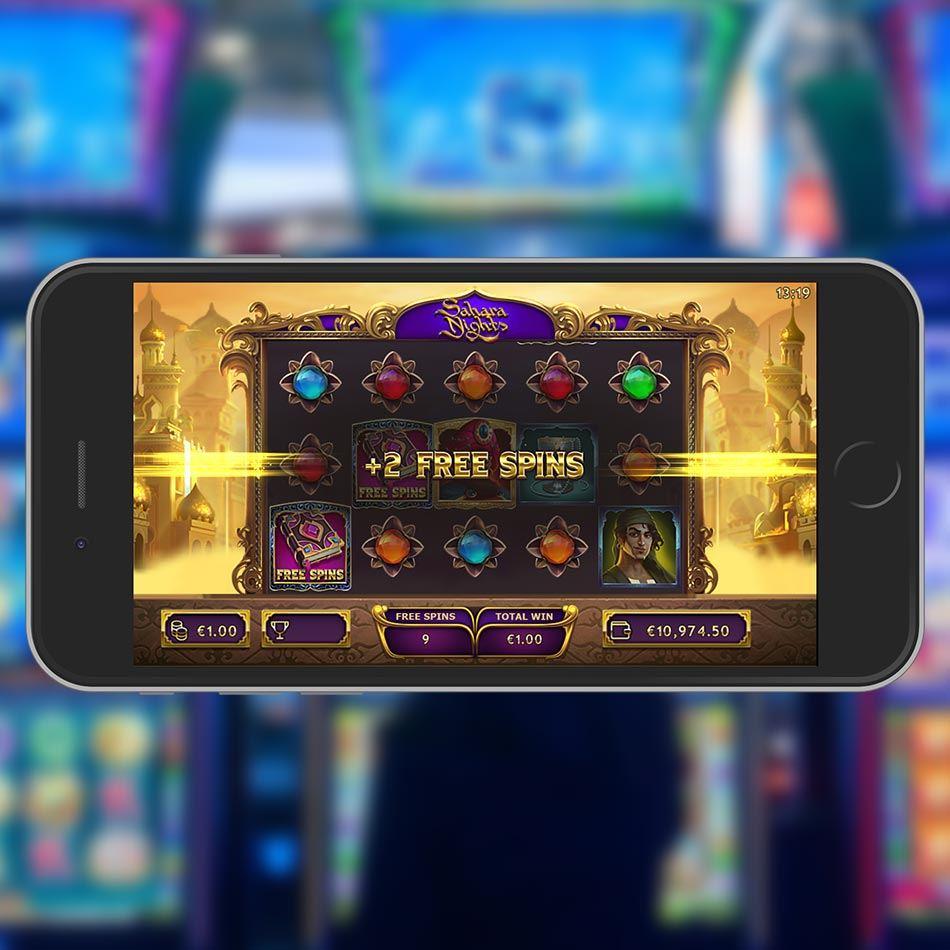 Sahara Nighst Slot Machine Free Spins Feature