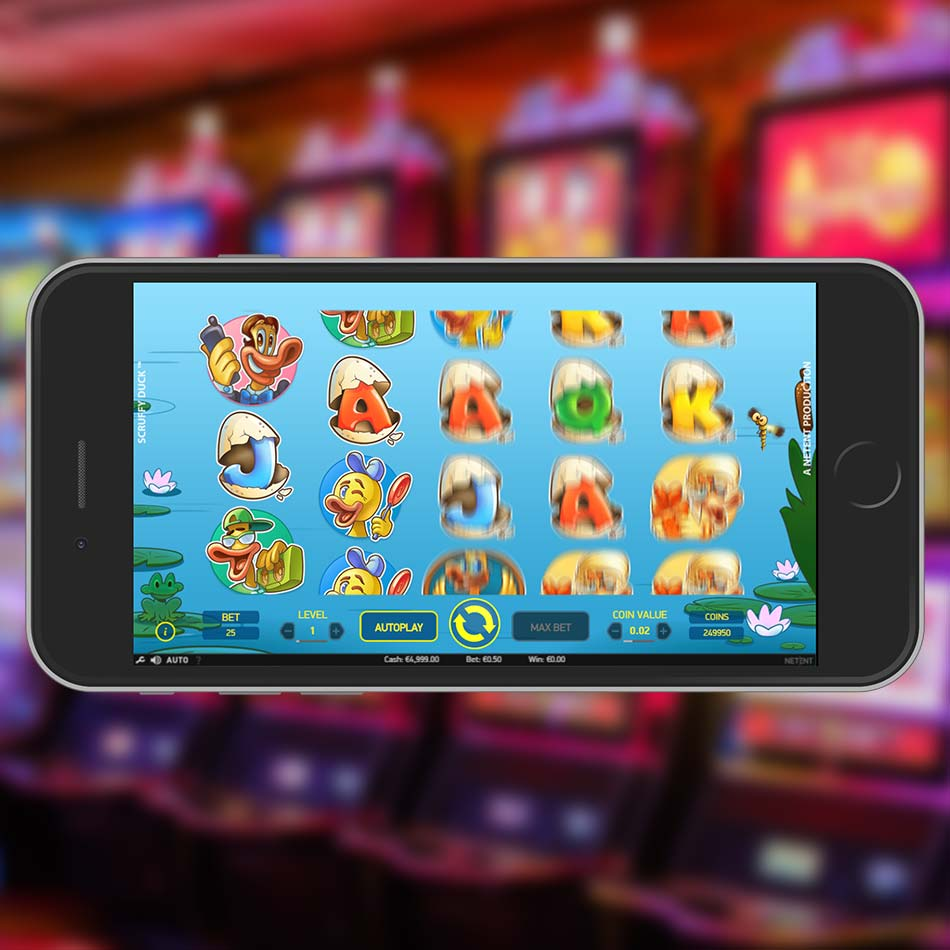 Scruffy Duck Slot Free Play Spinning Phase