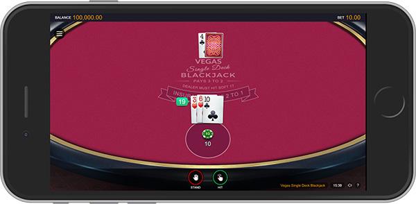 Single Deck Mobile Blackjack