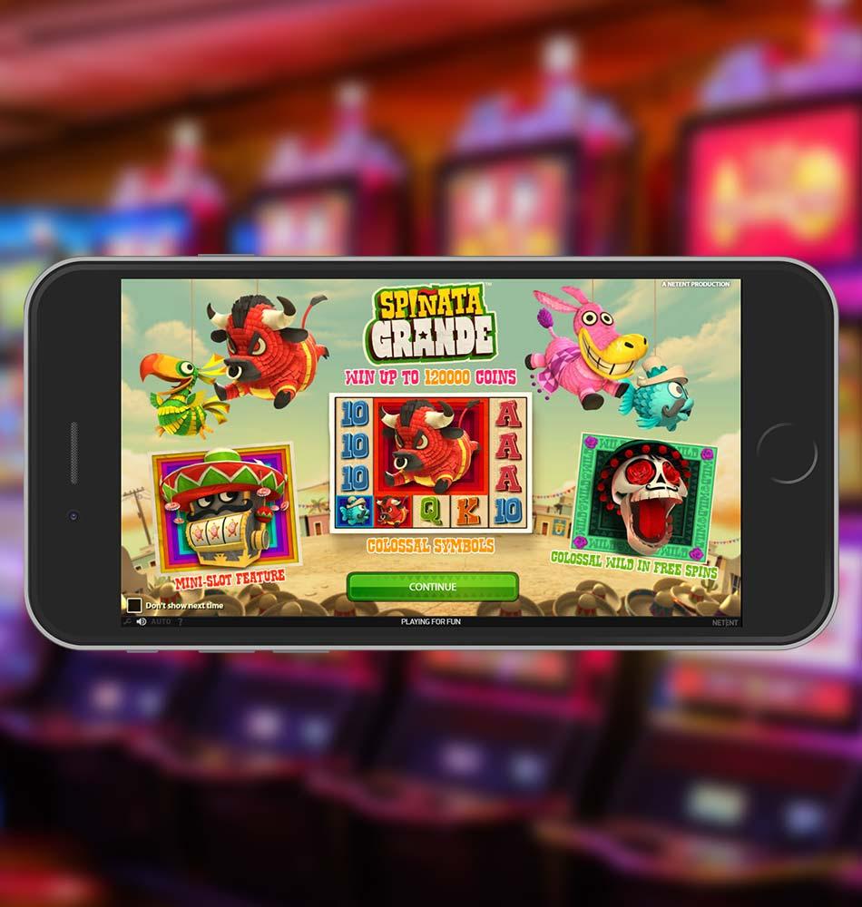 Spinata Grande Slot Machine Welcome Page