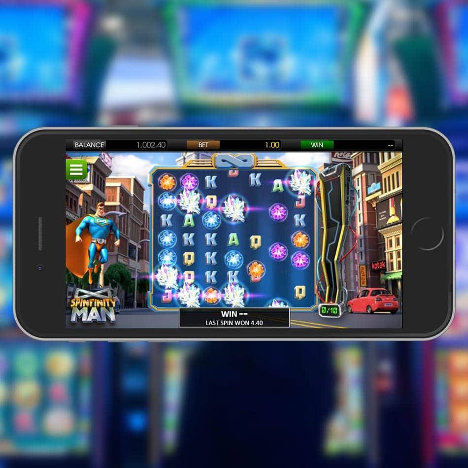 Spinfinity Man Slot Machine Free Play