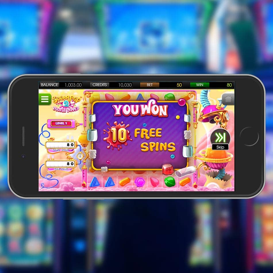 Sugar Pop 2: Double Dipped Slot Machine Free Spins Won