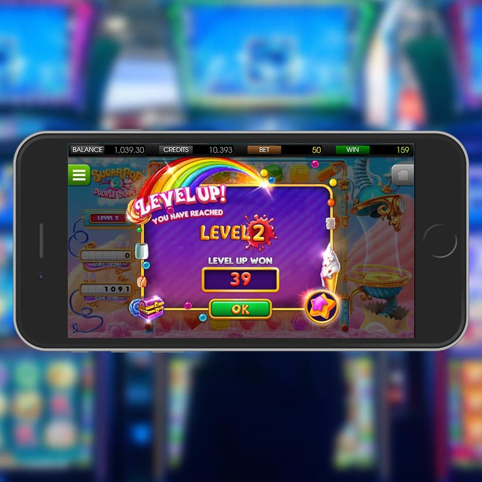 Sugar Pop 2: Double Dipped Slot Machine Lvling Up