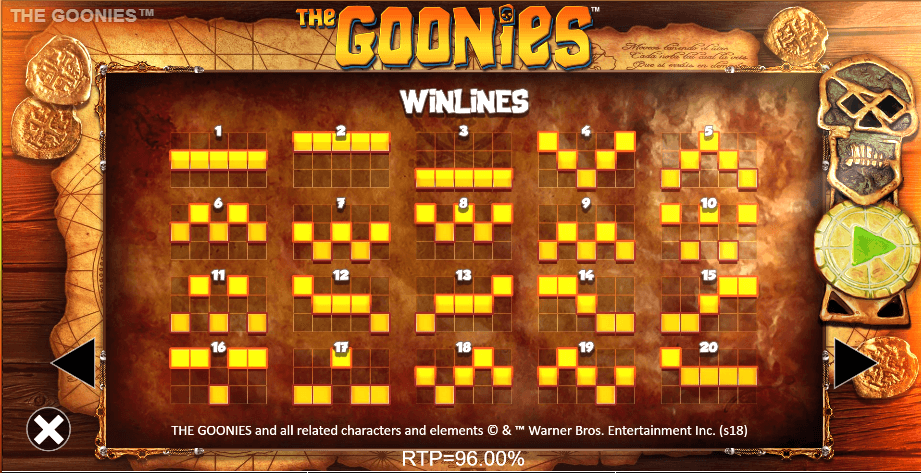 the-goonies-slot-machine-winlines