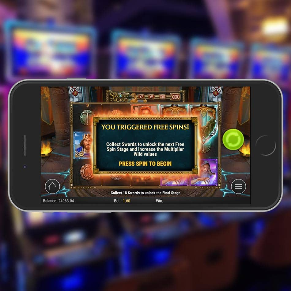 The Sword and the Grail Slot Machine Free Spins Granted
