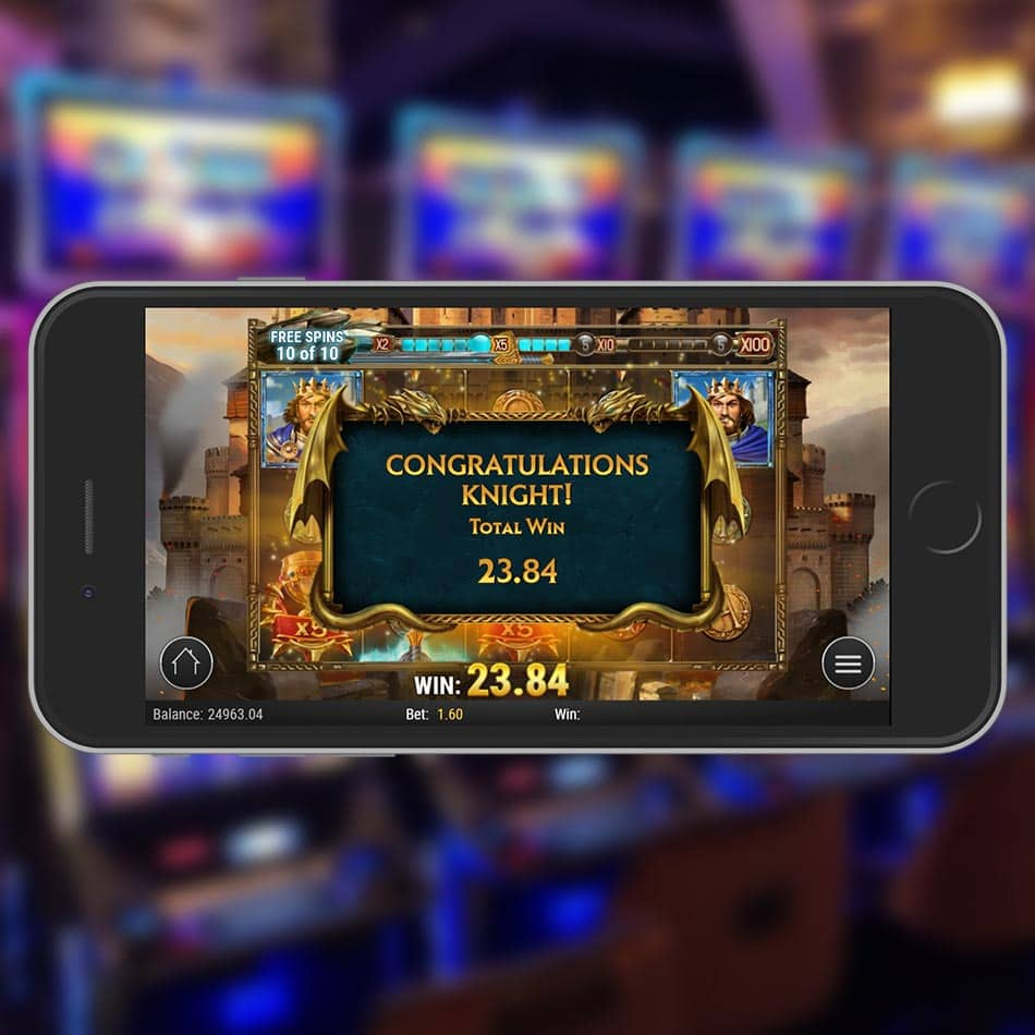 The Sword and the Grail Slot Machine Free Spins Total Win