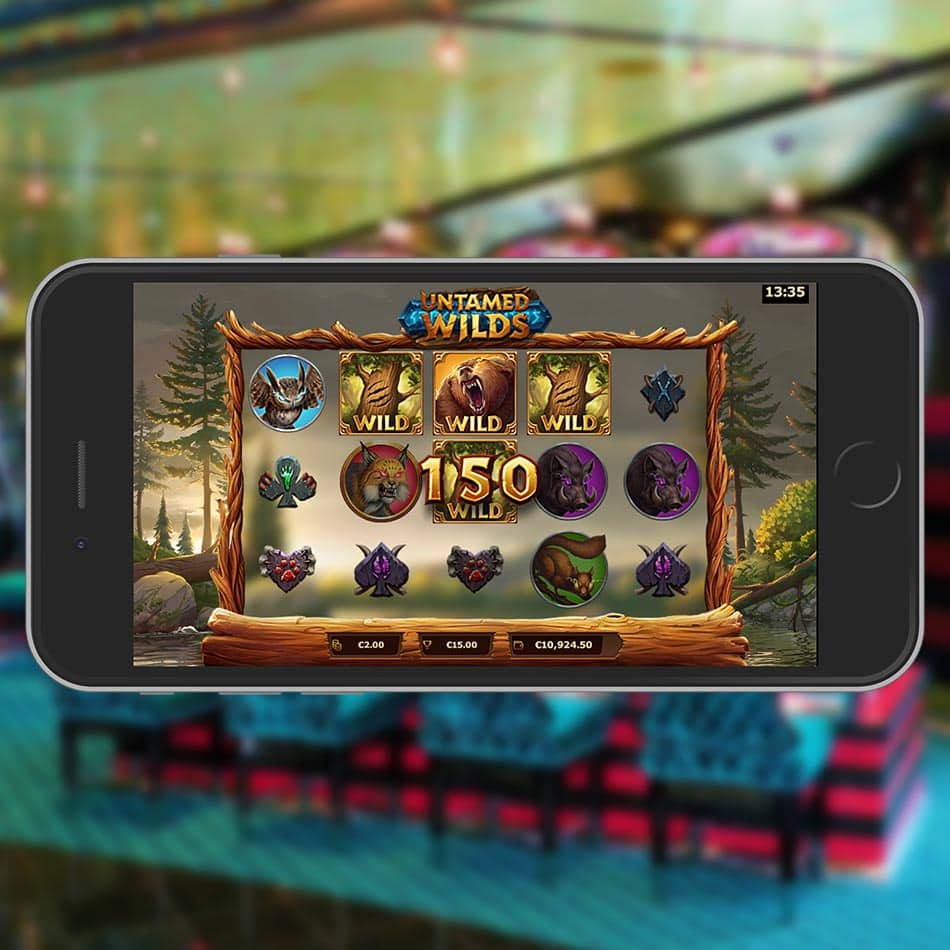 Untamed Wilds Slot Machine Bear Expanding Wild Feature