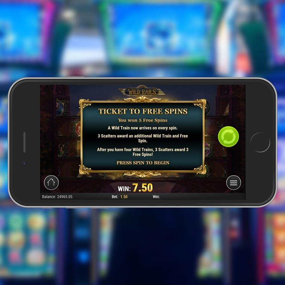 Wild Rails Slot Machine Free Spins Feature