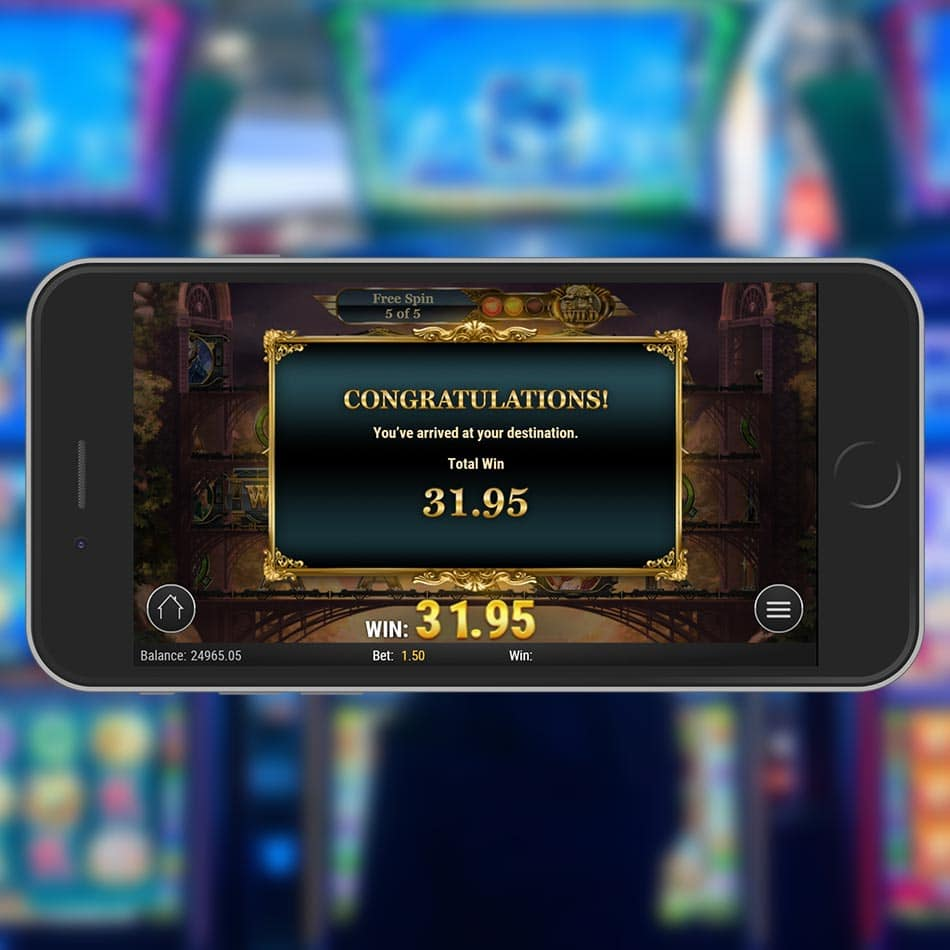 Wild Rails Slot Machine Free Spins Total Win