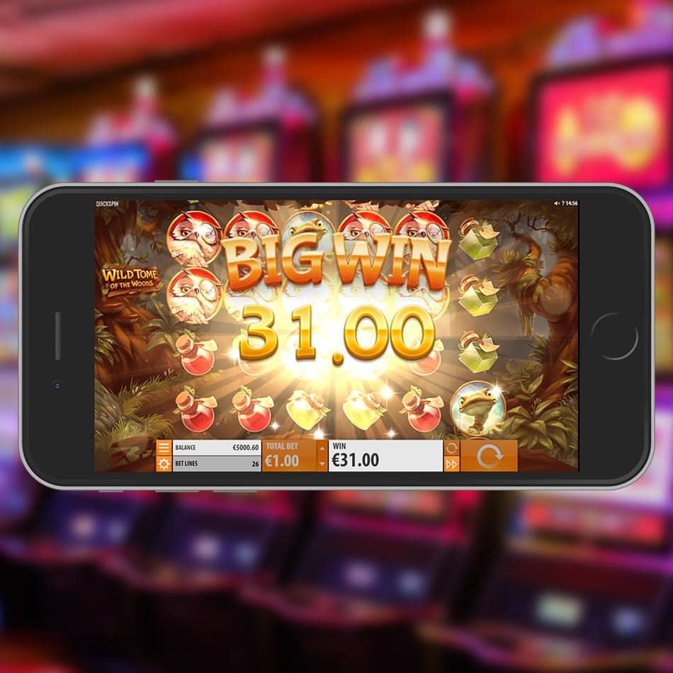 Wild Tome of the Woods Slot Machine Big Win