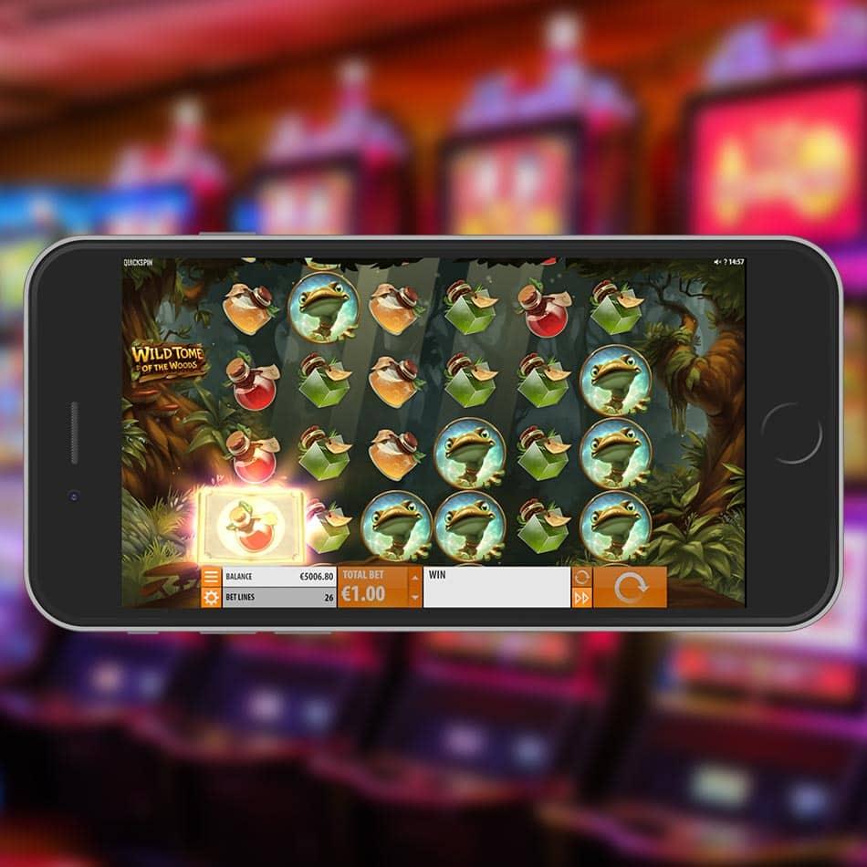 Wild Tome of the Woods Slot Machine Wild Symbol Transformation