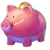 Wild Wheel Big Money Slot Machine Pig Asset